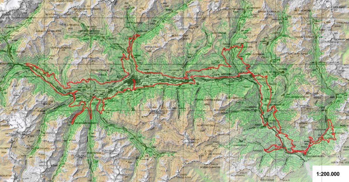 Cammino Balteo-mappa-percorso