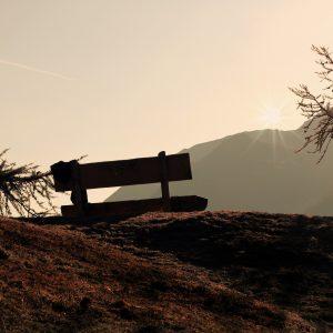 Panchina al tramonto